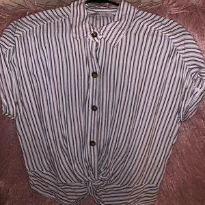 Cute button up stripped shirt